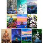 5D DIY Full Drill Diamond Painting Buddha Statue Cross Stitch Kits (hg256)