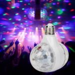 E27 3W Double-headed RGB LED Bulb Rotating Crystal Magic Ball Stage Light