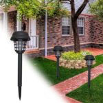 2pcs Mosquito Killer Solar LED Lamp Waterproof Garden Insect Fly Trap Light