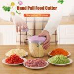 Manual Fruit Vegetable Chopper Hand Pull Food Cutter Grinder Kitchen Gadget