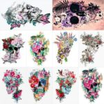 5D Full Drill Diamond Painting Flower Skull Cross Stitch Mosaic Kit (hg392)