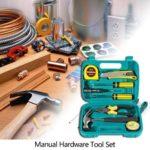 9pcs Manual Hardware Tool Kit Screwdriver Pliers w/Digital Pen Horn Hammer