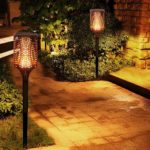2pcs 99LED Solar Flickering Flame Light Outdoor Waterproof Yard Torch Lamp