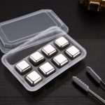 8pcs Stainless Steel Whiskey Ice Cube Reusable Wine Beer Drink Cooler (C)
