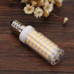E14 LED Bulb Corn Lamp 220V No Strobe Ceramic Light for Home Lighting (WW)