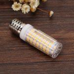 E17 LED Bulb Corn Lamp 220V No Strobe Ceramic Light for Home Lighting (WW)