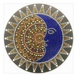 5D DIY Special Shaped Diamond Painting Moon Face Cross Stitch Mosaic Kits