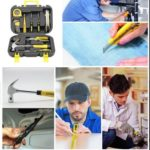 16pcs Household Repair Hand Tool Set with Toolbox Socket Wrench Screwdriver