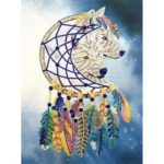5D DIY Special Shaped Diamond Painting Wolf Cross Stitch Mosaic Craft Kits