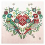 5D DIY Special Shaped Diamond Painting Heart Cross Stitch Mosaic Craft Kits