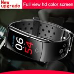 Q8S Waterproof Fitness Tracker Heart Rate Blood Pressure Wristband (Grey)