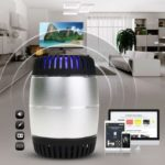 Bluetooth Colorful LED Wireless Mini Speaker Support TF Card FM (Silver)