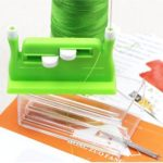 5pcs Sewing Needle Threader DIY Needlework Stitch Insertion Machine (Green)