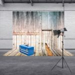 Retro Wood Planks Texture Photography Background Cloth Backdrop (1.5×2.1m)