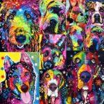 5D DIY Full Drill Diamond Painting Dog Cross Stitch Embroidery Kit (Dog09)
