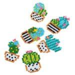 DIY Cactus Kids Round Diamond Stickers Full Drill Diamond Painting Kits