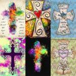 5D DIY Cross Full Drill Diamond Painting Cross Stitch Mosaic Kits (z1073)