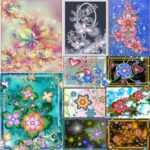 5D DIY Full Drill Diamond Painting Cross Stitch Embroidery Kit (Flower10)