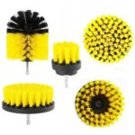 5pcs Electric Drill Brush Kit Tile Grout Scrubber Cleaning Drill Brush (C)