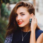 Glossy Rhinestone Dangle Ear Stud Women Glitter Drop Earrings Jewelry Gift