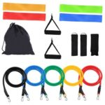 15 in 1 Natural Latex Fitness Resistance Bands Strength Training Set