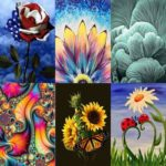 5D DIY Full Drill Diamond Painting Flowers Cross Stitch Mosaic Kits (W394)