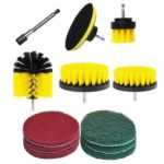 12pcs Electric Drill Brush Scrub Pads Grout Power Drills Scrubber Cleaner
