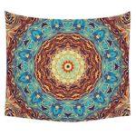 Boho Print Wall Hanging Tapestry Blanket Yoga Mat Home Decor (Mandala24 L)