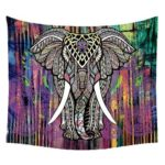 Mandala Boho Printed Hanging Tapestry Picnic Mat Blanket (Elephant01 L)