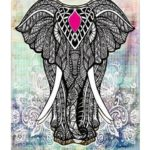 Mandala Printed Hanging Tapestry Blanket Yoga Mat Home Decor (Elephant08 L)