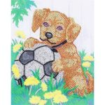 5D DIY Special-shaped Diamond Painting Cross Stitch Embroidery (H130 Dog)