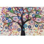 5D DIY Special-shaped Diamond Painting Cross Stitch Embroidery (D1058 Tree)