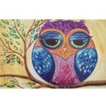 5D DIY Special-shaped Diamond Painting Cross Stitch Embroidery (D1054 Bird)
