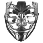 Plastic Fancy Adult Mask V Costumes Cosplay Halloween Masquerade Prop (E)