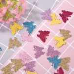 100pcs Color Non-woven Appliques Handmade Crafts Sticker Decor (Butterfly)