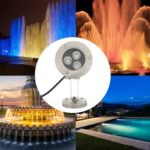 3W DC12V Underwater LED Fountain Lights Waterproof Swimming Pool Pond Lamp