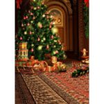 Christmas Element Backdrop Cloth Photographic Prop (Background Cloth-A)