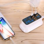 8 Ports Quick Charge 3.0 LED Display USB Charger for Android iPhone (US)