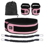Basic Training Suit Sports Fitness Resistance Bands Bouncing Strap (Pink)