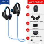 POLVCDG K98 Wireless Bluetooth Sweatproof Neckband Earphones w/ MIC (Blue)