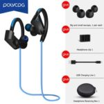 POLVCDG K98 Wireless Sweatproof Bass Bluetooth Neckband Earphone (Blue)