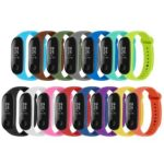 15pcs Silicone Watchband Replacement Bracelet for Xiaomi Mi Smart Band 4 3