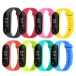 8pcs Silicone Bracelet Replacement Watchband for Xiaomi Mi Smart Band 4 3