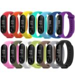 14pcs Silicone Watchband Replacement Bracelet for Xiaomi Mi Smart Band 4 3