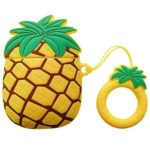 Cute 3D Pineapple Earphones Silicone Protection Cover for AirPods 1 2 (B)