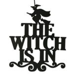 Nonwoven Hanging Witch Letter Pattern Pendant Halloween Festival Home Decor