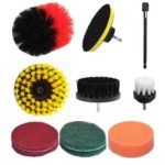 11pcs/set Electric Cleaning Brush Tile Grout Scrubber Cleaning Drill Brush