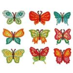 DIY Full Drill Round Butterfly Diamond Painting Children Cartoon Stickers