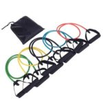 5 in 1 Latex Fitness Resistance Bands with Handle Strength Training Set