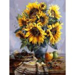 Sunflower 5D DIY Full Drill Rhinestone Diamond Painting Artcraft Home Decor